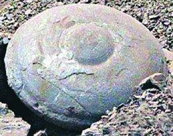 """В Китае нашли """"летающие тарелки"""" из камня"""