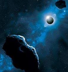 Пять систем двойных астероидов