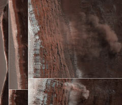На Марсе сошли четыре лавины